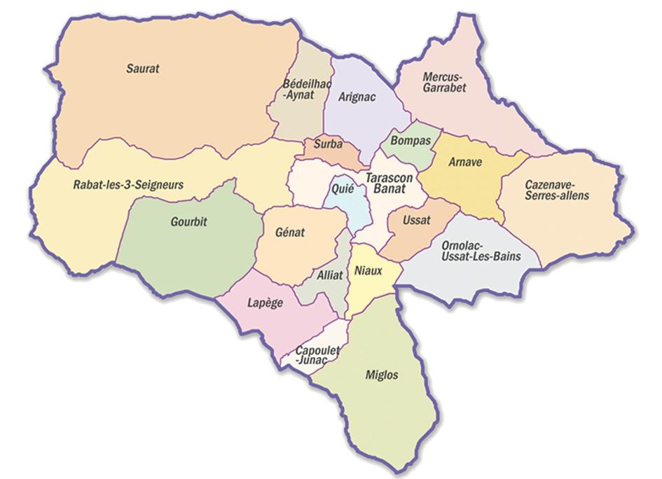 carte des communes de la communauté de communes