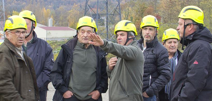 Président de la communuaté de commune en visite sur un chantier