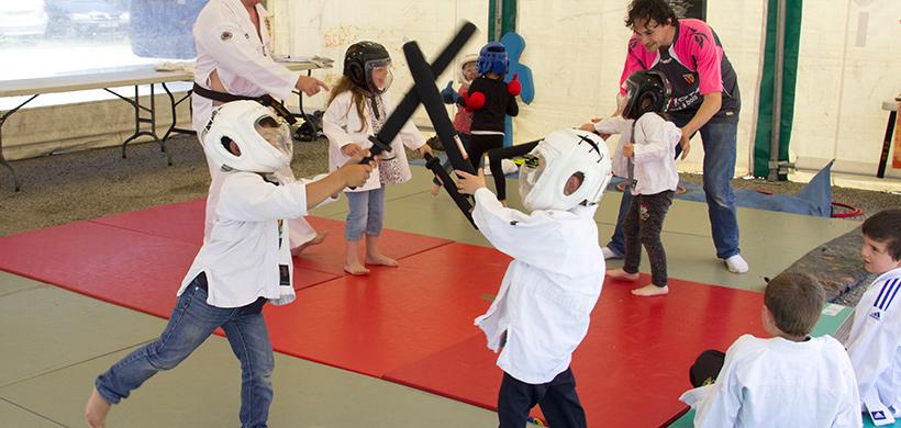 Enfants en cours d'arts martiaux