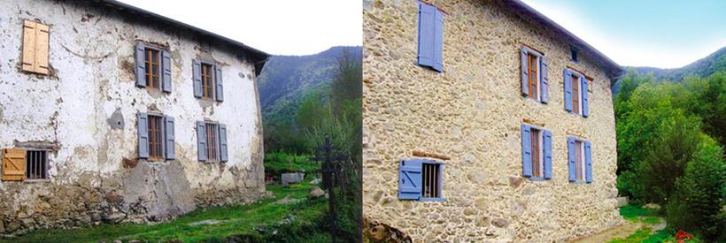Maison rénovée, avant-après