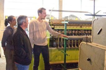 Visite de la filature de Niaux