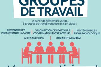GROUPES DE TRAVAIL SUR LA SANTÉ : VENEZ PARTICIPER !