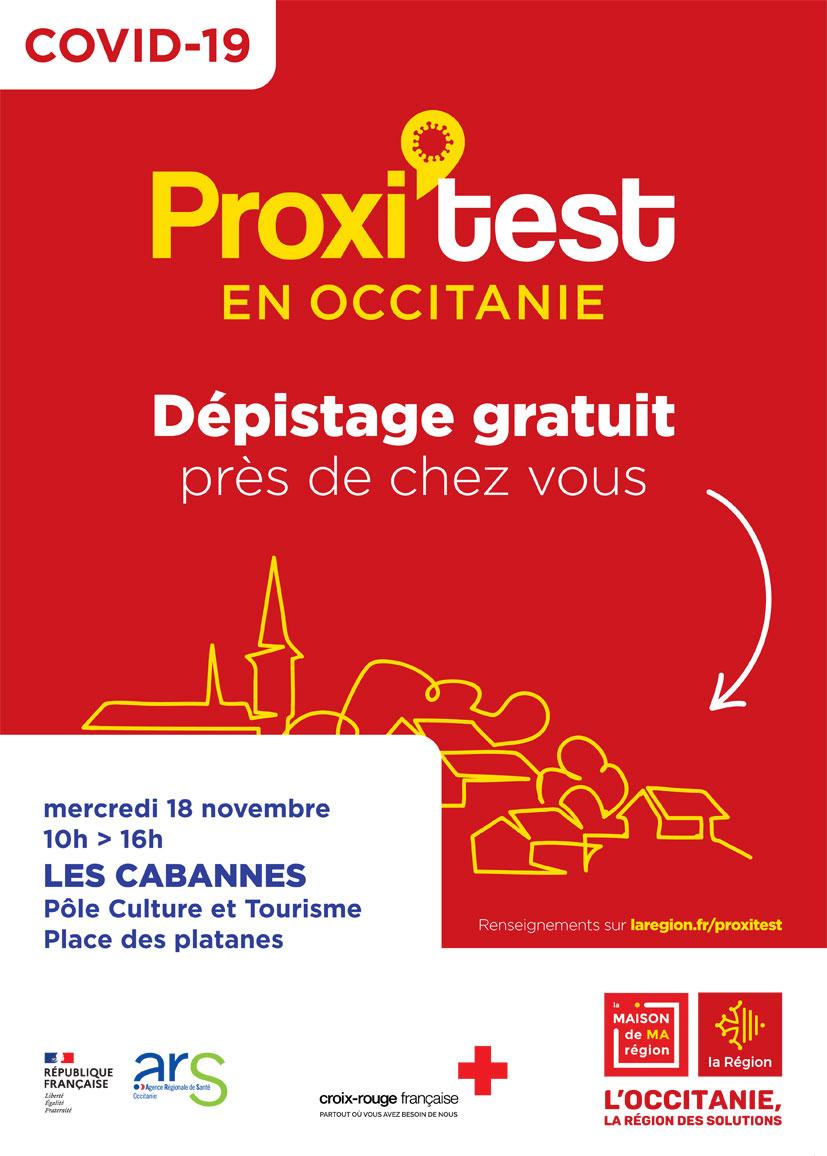 OPÉRATION TEST COVID 19 AUX CABANNES CE MERCREDI.