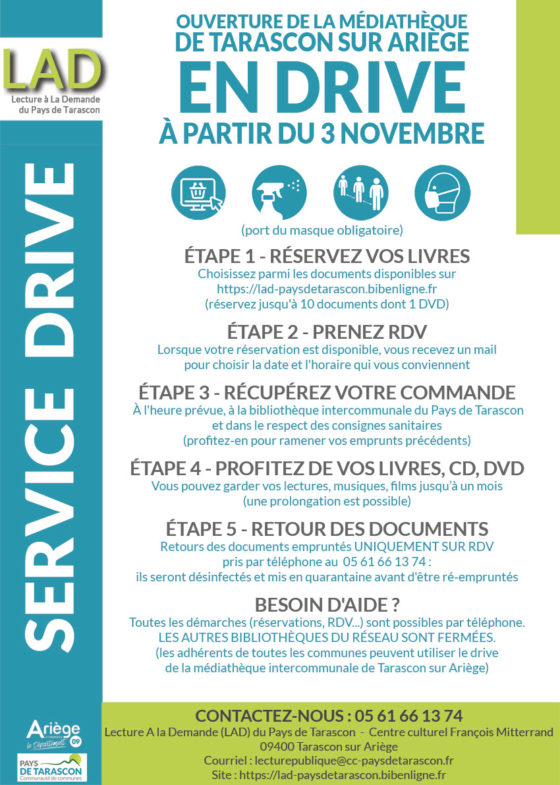 BIBILOTHEQUE INTERCOMMUNALE : EN MODE DRIVE.