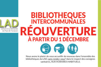 RÉOUVERTURE DE VOS BIBLIOTHÈQUES INTERCOMMUNALES !